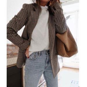 ASOS Plaid Wool Blazer